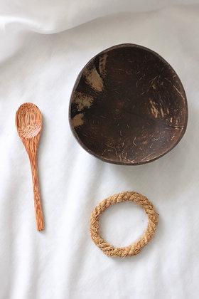 Set bol en noix de coco+ cuillère (1x)
