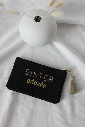 "Pochette "" Sister adorée"" (noir)"