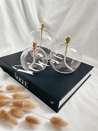 Lampe à huile boule (3 tailles)