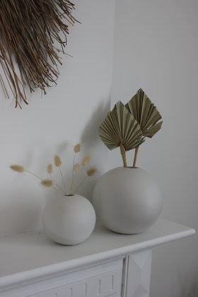 Vase boule BLANC (S-M-L)