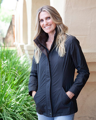 Remy Leather - Women's Double Collar Microfiber Jacket