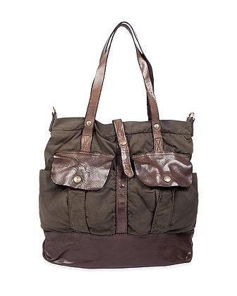 Campomaggi - Tech Fabric and Leather Shopper