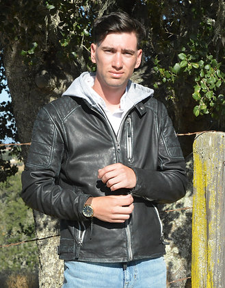 Mauritius - The Halow Mens' Lambskin Jacket w/Removable Hood