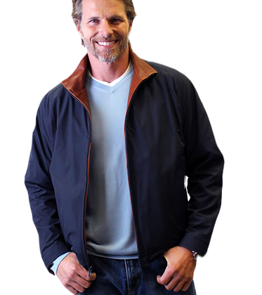 Remy Leather - Mens Microfiber Single Collar Jacket