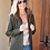 Thumbnail: Remy Leather - Women's Leather Double Collar 3/4 Length Coat