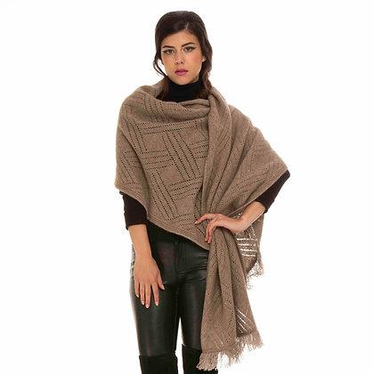 Koru - Fur Silk Blend Lacy Shawl