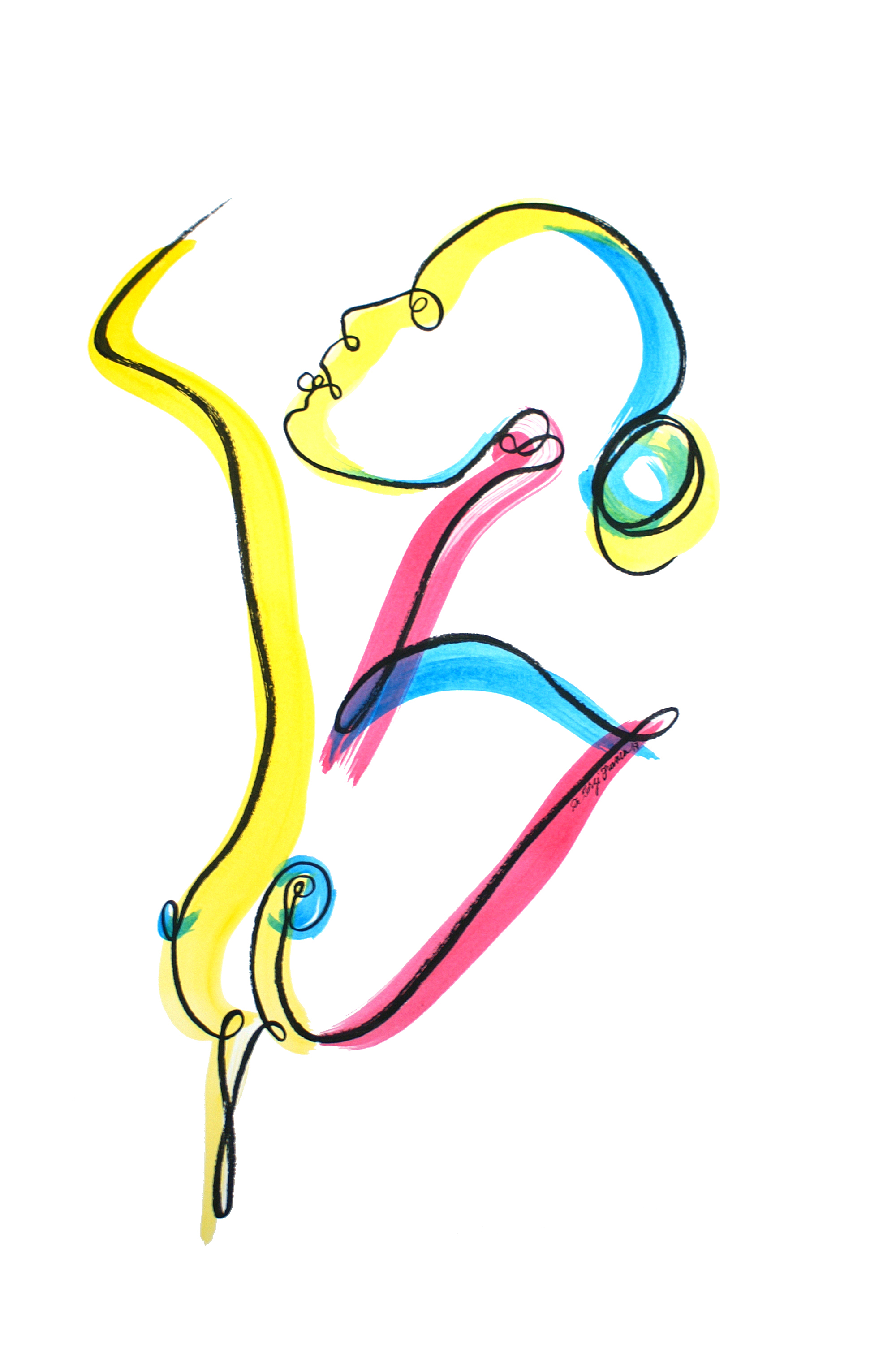 Femme au chignon (oeuvre n°77)