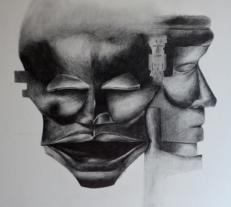 Masques n° 2 (Oeuvre n°113)