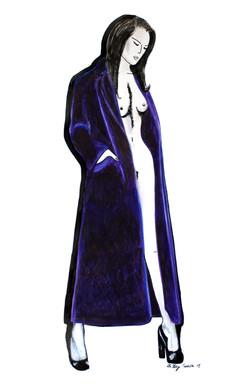 Femme au manteau (Oeuvre n°99)