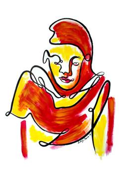 Femme à l'étole (oeuvre n°62)