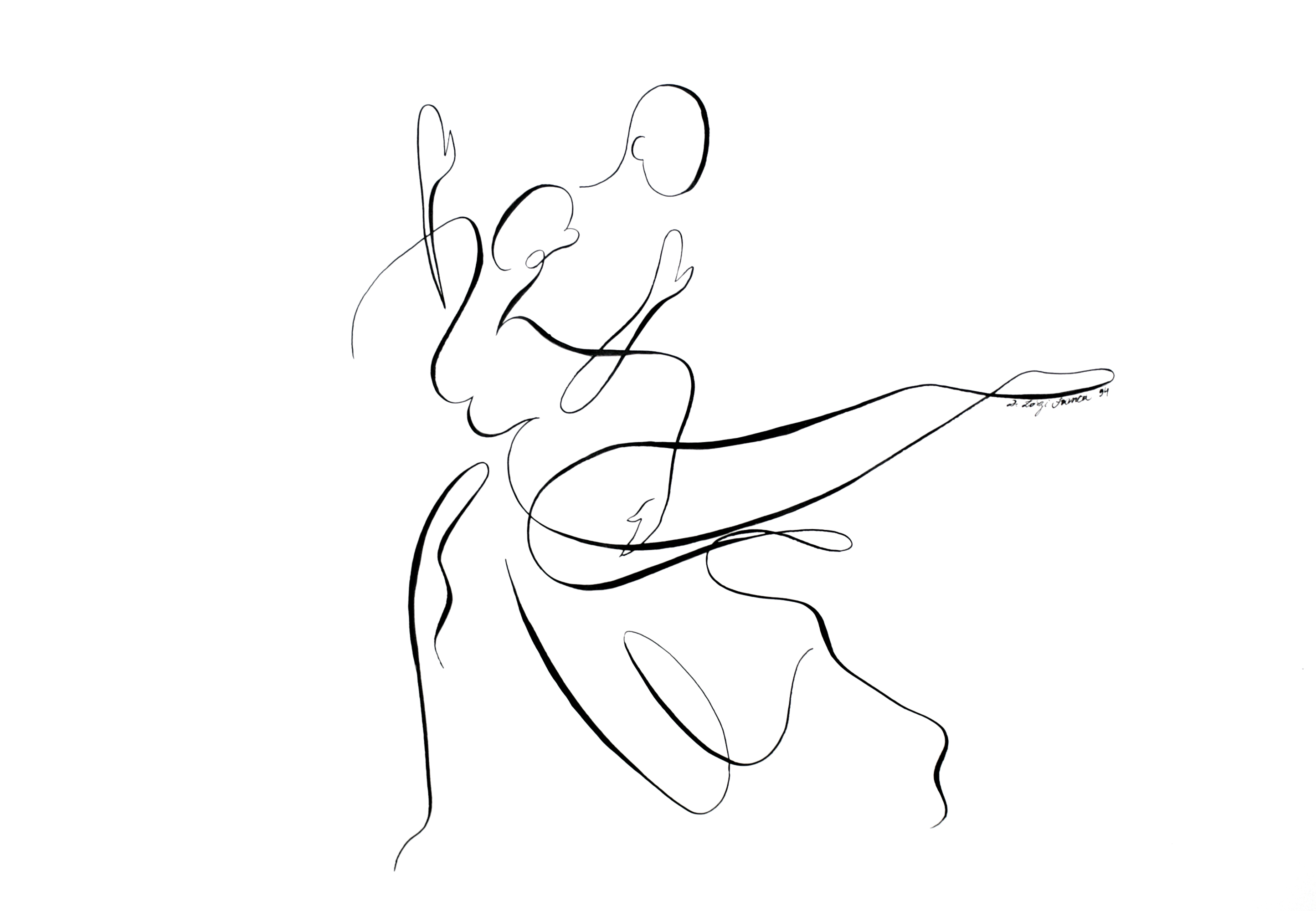 Les danseurs n°2 (oeuvre n°46)