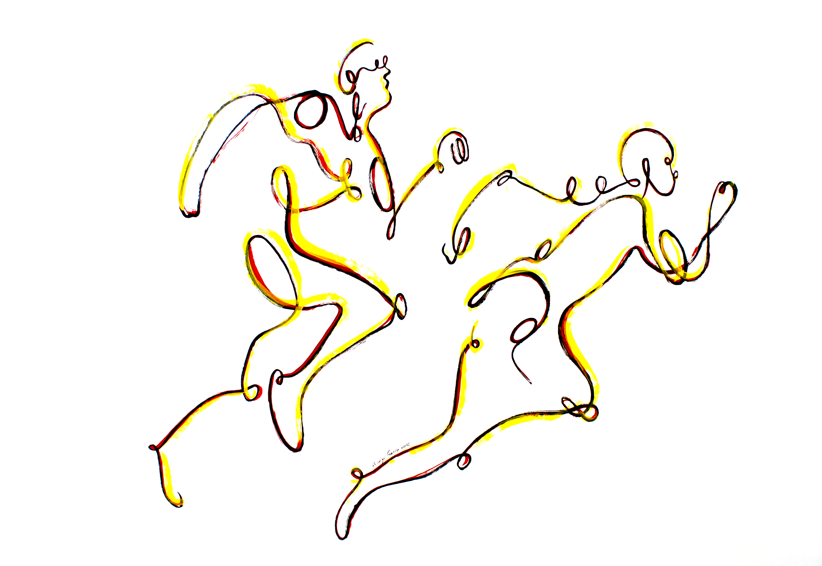 Les coureurs (oeuvre n°85)