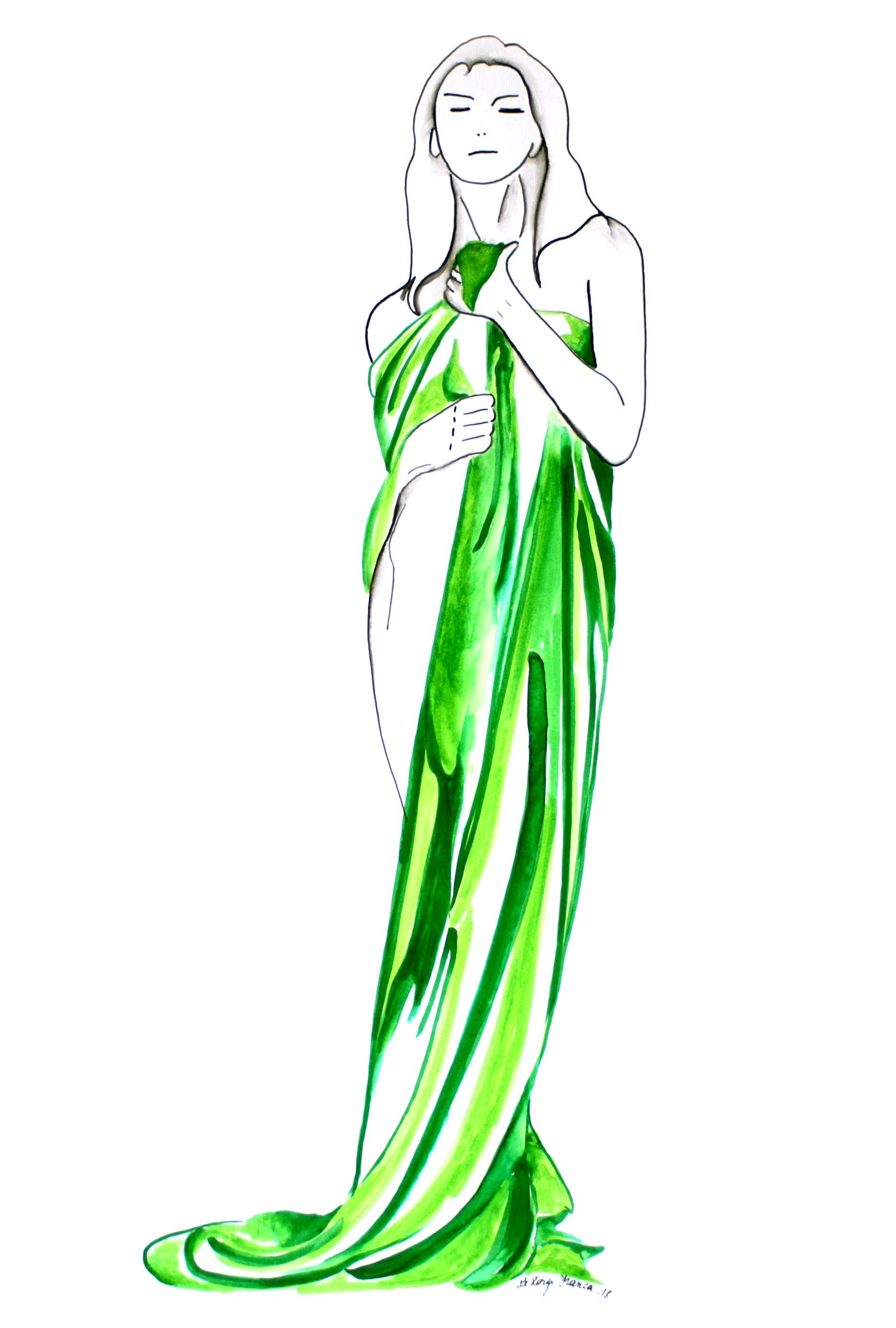 Femme au drapé (Oeuvre n°101)