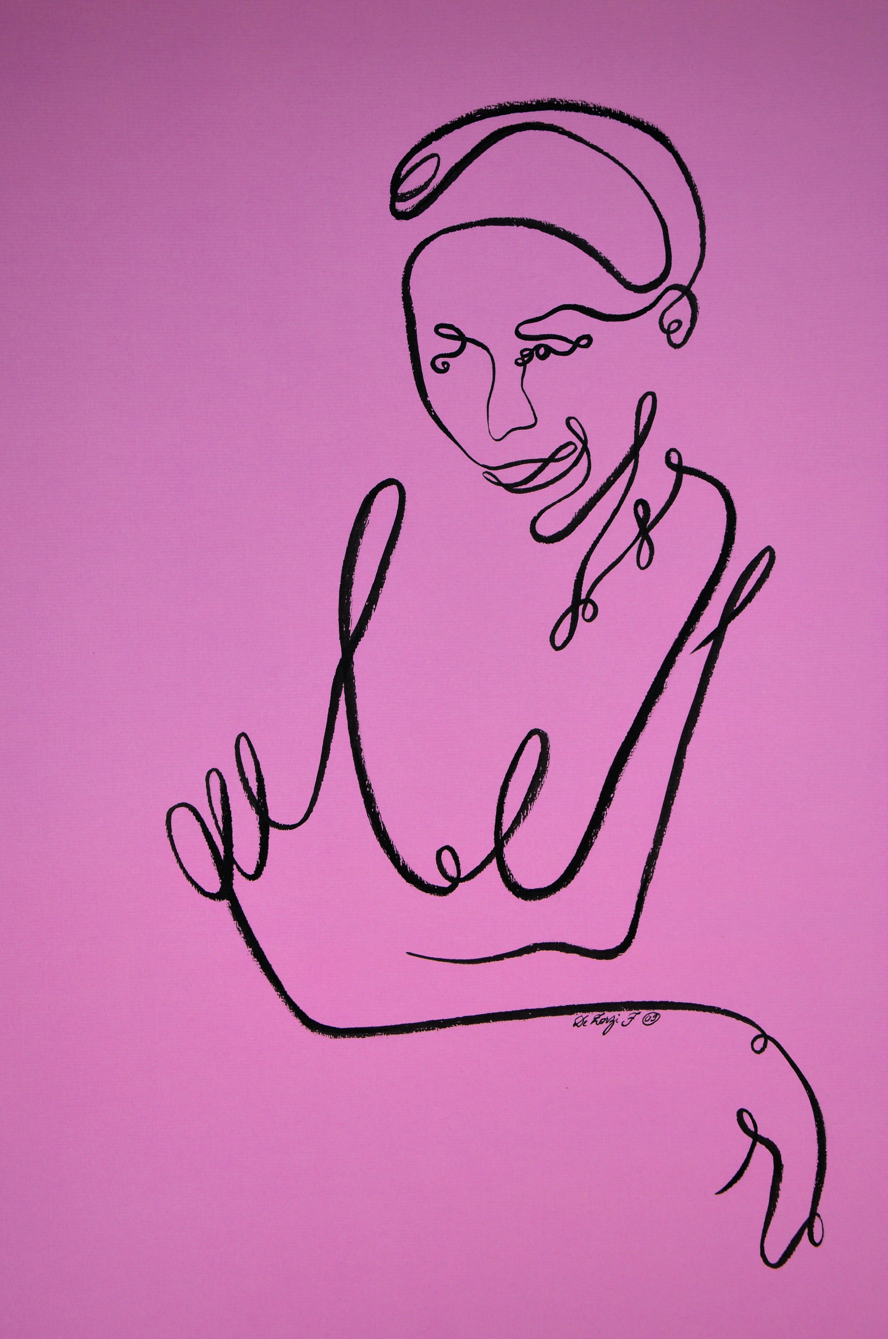 Femme au balcon (oeuvre n°96)