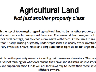 Agricultural Land, NOT just another property class!