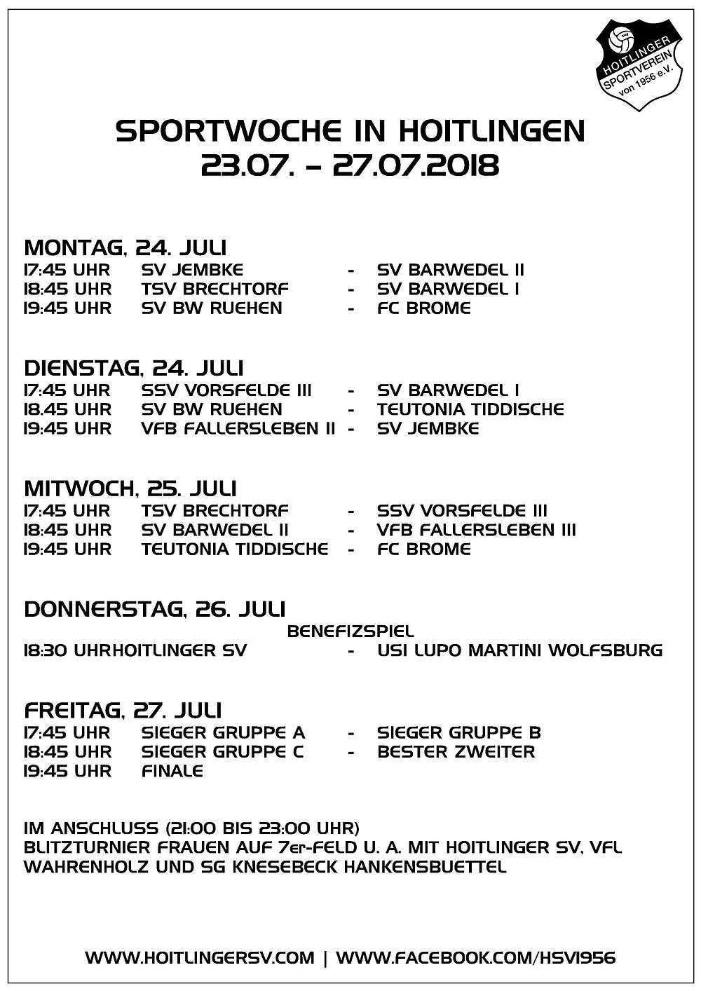 Sportwoche Hoitlinger SV