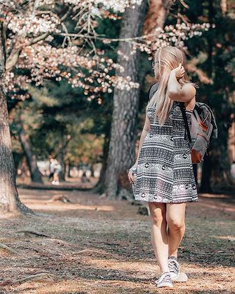 Holly Richards in Nara, Japan