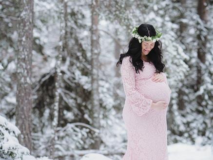 Gravidfotografering i vinterlandet