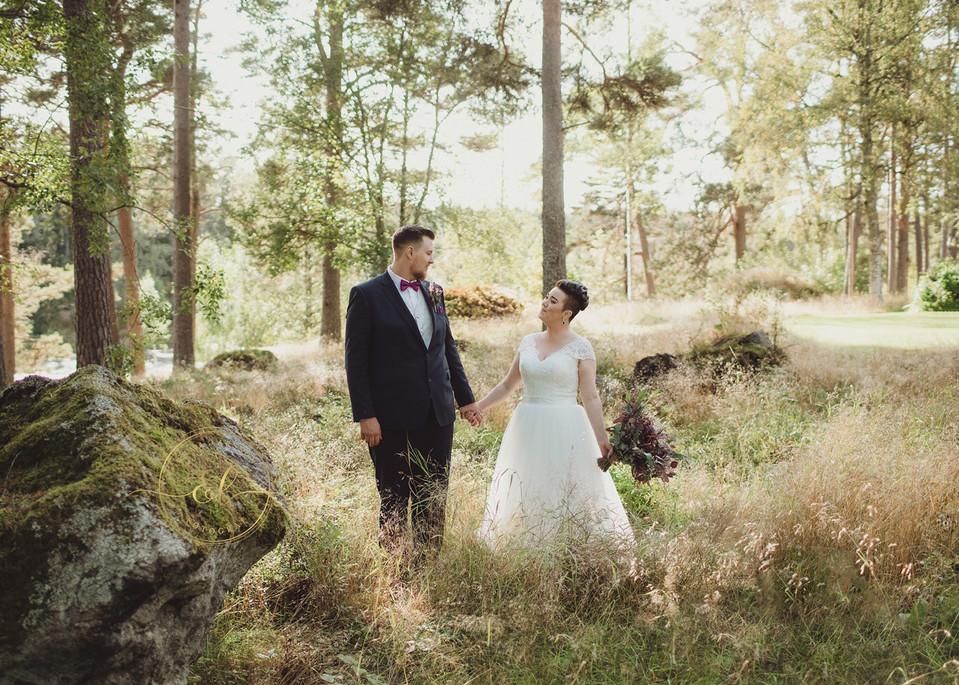 Bröllopsfotograf i Sundsvall/Timrå Naturlig stil