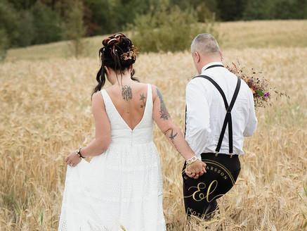 Bröllop med folkvagn och hippiekänsla