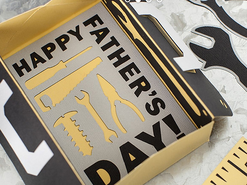 3D Father's Day Tool Box Card