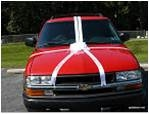 Custom Printed Personalized Car Ribbon Bow
