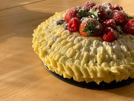Lemon & Poppyseed Cake with Buttercream Icing