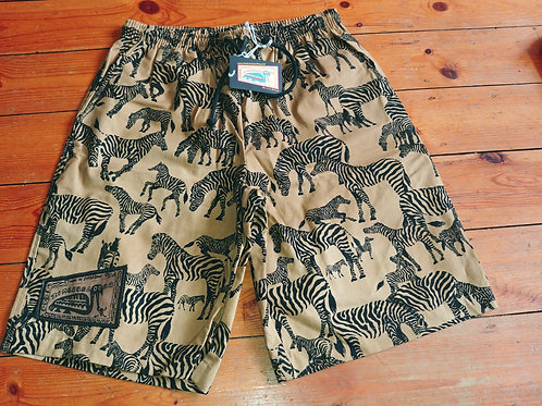 Adult Shorts/Baggies - Zebra
