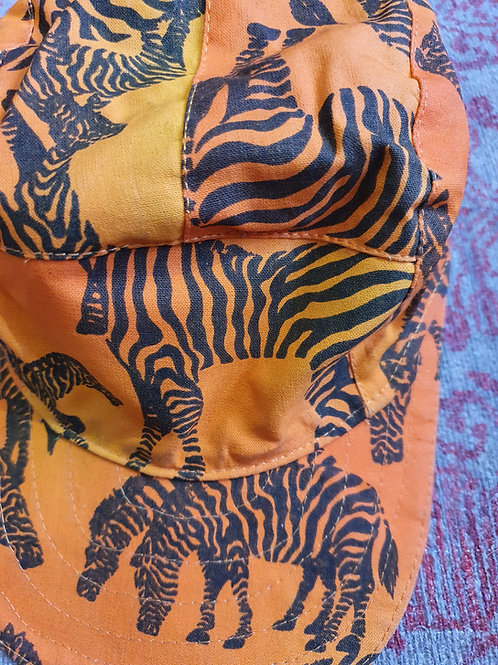 Reversible Caps - Zebras/African Jive