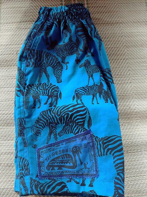 Kids Baggies / Shorts - Zebra