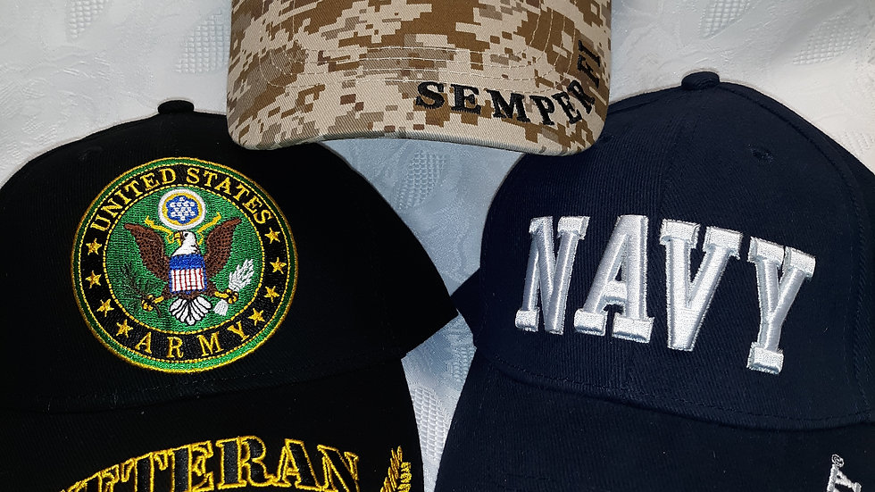 Military branch caps