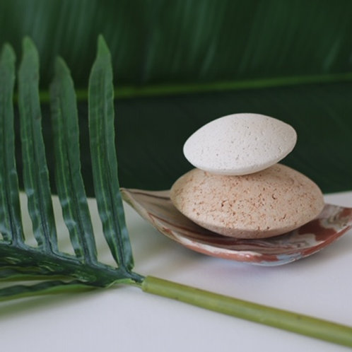 Hands, Feet and Body Pumice Stone and Face Pumice Stone Set with Square Dish