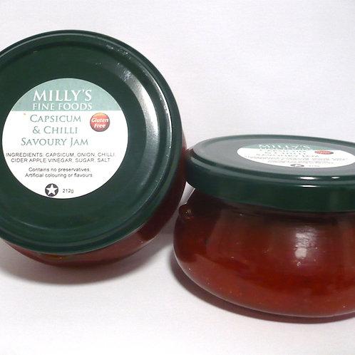 Capsicum and Chilli Savoury Jam
