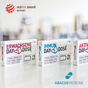 A compact supplement packaging solution designed to combine all daily required supplements. Client: Abacus Medicine