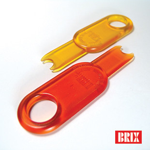 Kitchen utensils such as food and beverage container openers designed for people with disabilities. Client: Brix Design