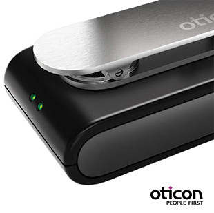 Development of new connectivity device and features for hearing aid. Client: Oticon