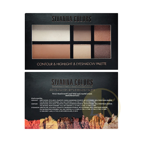 Sivanna Color Contour & Highlight & Eyeshadow Palette