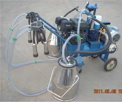 Double Tank Electric + Gasoline Vacuum Pump Milker