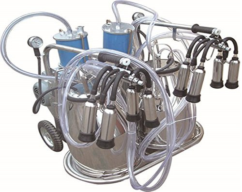 Electric Piston Milking Machine For Cows - Double