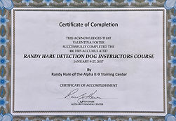Randy Hare Instructors Course