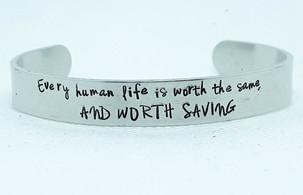 Every Human Life Medium Cuff Bracelet