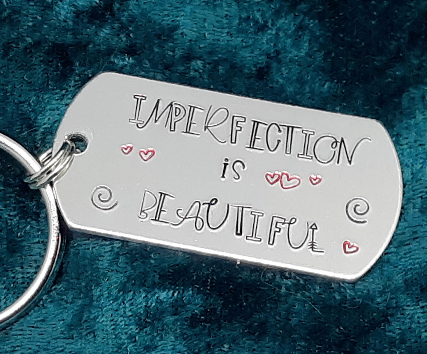 Imperfection is Beautiful Key Chain