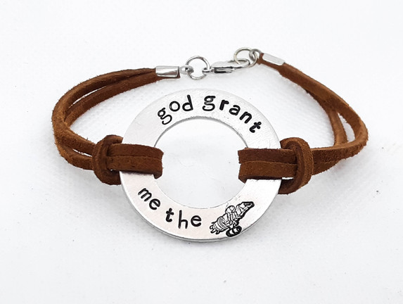 God Grant Me the Serenity Washer Bracelet