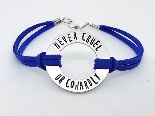Never Cruel or Cowardly Washer Bracelet