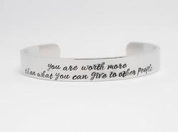 You Are Worth More Medium Cuff Bracelet