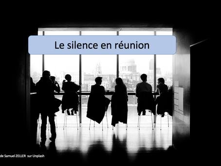 Le silence en réunion