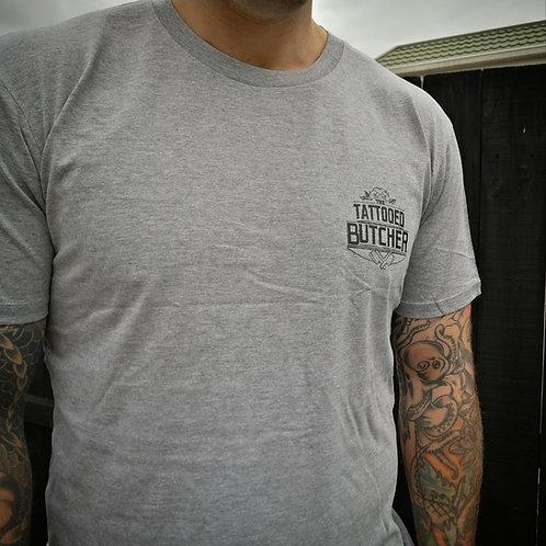 Tattooed Butcher Grey T-Shirt