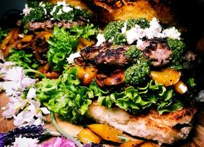 Moroccan Beef burger patties