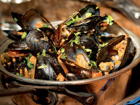 """Sautéed Mexican Mussels with Chorizo and Tequila """"Mejillones Con Tequila"""""""