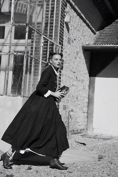 Robe Armony-Grace 100% lin noir